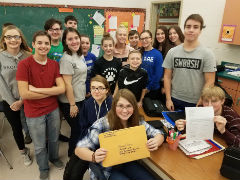 8th Graders write letters to the President