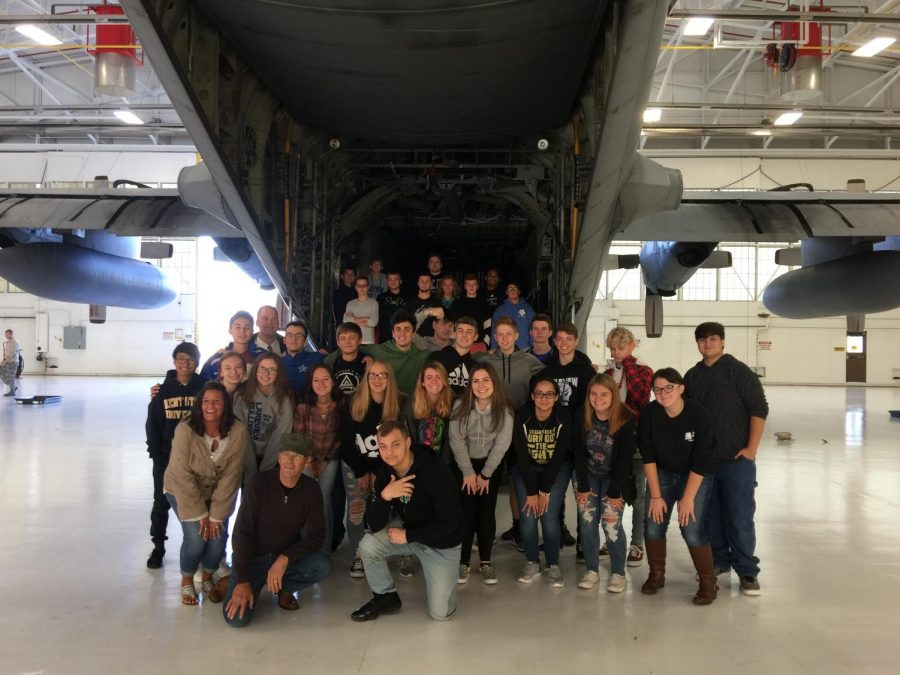 Lakeview Juniors and Seniors Visit Air base