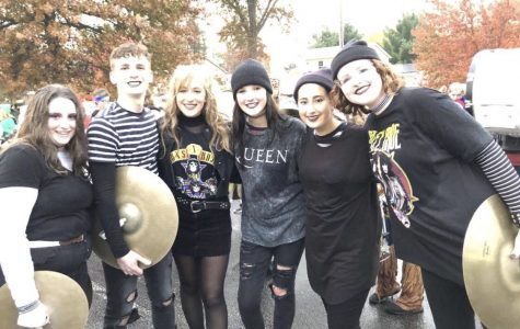 Marching Bulldogs Lead Halloween Parade