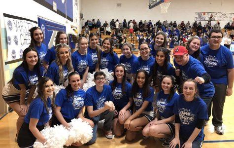 LHS Stars Cheer at Basketball Game