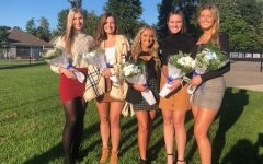 A few of the 2020 Homecoming Queen Candidates prior to the ceremony.