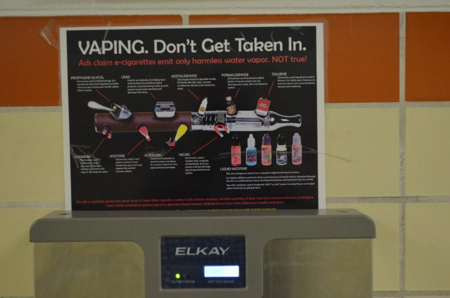 Anti-Vaping signs like this can be found in the hallways and restrooms of LHS.