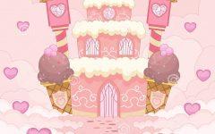 Alternate Text Not Supplied for romantic-candy-castle-illustration-pink-colored-45515368.