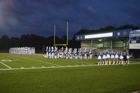 Lakeview Band Marches the Home Field